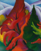 Georgia O'Keeffe - Trees in Autumn, 1920-1921