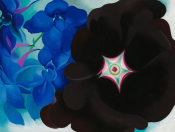 Georgia O'Keeffe - Black Hollyhock Blue Larkspur, 1930