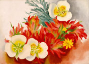 Georgia O'Keeffe - Mariposa Lilies and Indian Paintbrush, 1941