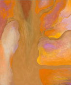 Georgia O'Keeffe - Tan, Orange, Yellow, Lavender, 1959-1960