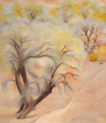 Georgia O'Keeffe - Early Spring Trees Above Irrigation Ditch, Abiquiu, 1950
