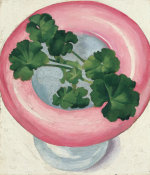 Georgia O'Keeffe - Geranium Leaves in Pink Dish, 1938