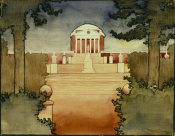Georgia O'Keeffe - Untitled (Rotunda - University of Virginia) Scrapbook of UVA, 1912-1914