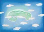 Georgia O'Keeffe - An Island with Clouds, 1962