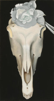 Georgia O'Keeffe - Horses Skull with White Rose, 1931