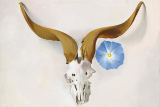 Georgia O'Keeffe - Rams Head, Blue Morning Glory, 1938