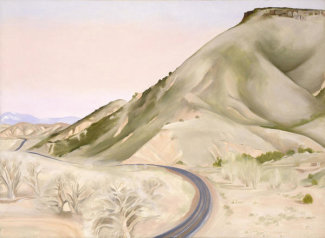 Georgia O'Keeffe - Mesa and Road East II, 1952