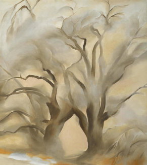 Georgia O'Keeffe - Winter Cottonwoods East V, 1954