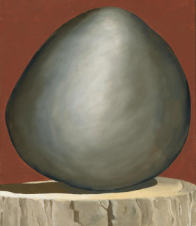 Georgia O'Keeffe - Black Rock on Red, 1971