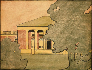 Georgia O'Keeffe - Untitled (Law Building - University of Virginia), 1912-1914