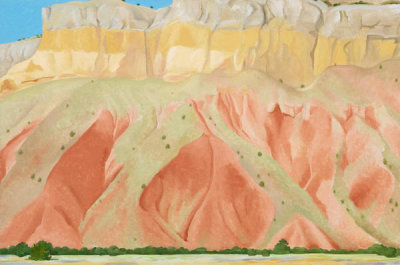 Georgia O'Keeffe - Untitled (Red and Yellow Cliffs), 1940