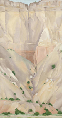 Georgia O'Keeffe - Cliffs Beyond Abiquiu, Dry Waterfall, 1943