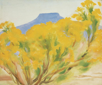 Georgia O'Keeffe - Cottonwood and Pedernal, 1948