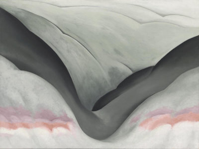 Georgia O'Keeffe - Black Place, Grey and Pink, 1949