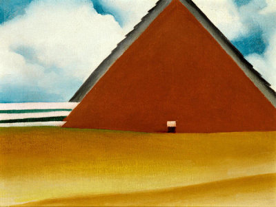 Georgia O'Keeffe - Red Barn in Wheatfield, 1928