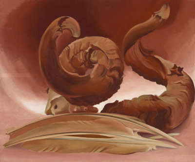 Georgia O'Keeffe - Horn and Feathers, 1937