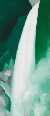 Georgia O'Keeffe - Green and White, 1957-1958