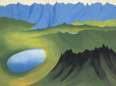 Georgia O'Keeffe - Mountains and Lake, 1961