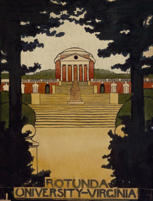Georgia O'Keeffe - Untitled (Rotunda - University of Virginia), Scrapbook of UVA, 1912-1914