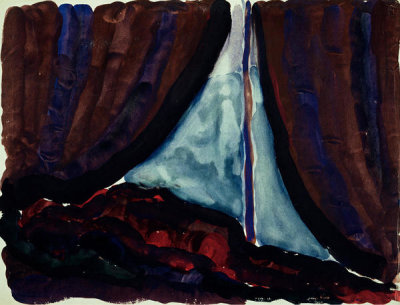 Georgia O'Keeffe - Untitled (Tent Door at Night), 1916