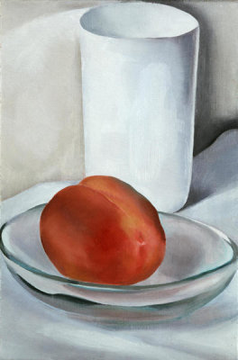Georgia O'Keeffe - Peach and Glass, 1927