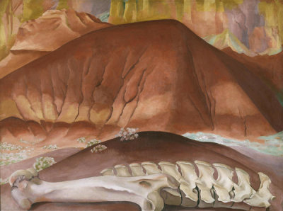 Georgia O'Keeffe - Red Hills and Bones, 1941