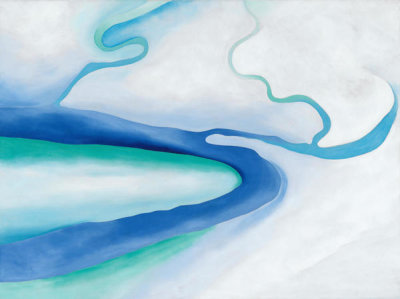 Georgia O'Keeffe - It Was Blue and Green, 1960