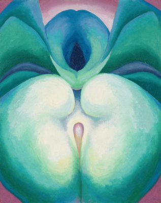 Georgia O'Keeffe - Series I White & Blue Flower Shapes, 1919