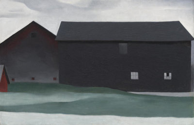 Georgia O'Keeffe - The Barns, Lake George, 1926