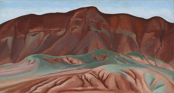 Purple Hills Ghost Ranch-2 / Purple Hills No II, 1934 by Georgia O'Keeffe - Paper and Canvas Print - Georgia O'Keeffe Museum - Custom Prints Store